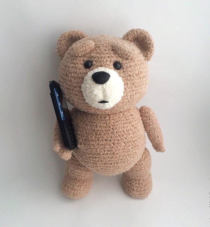 Вывязать медведя схема