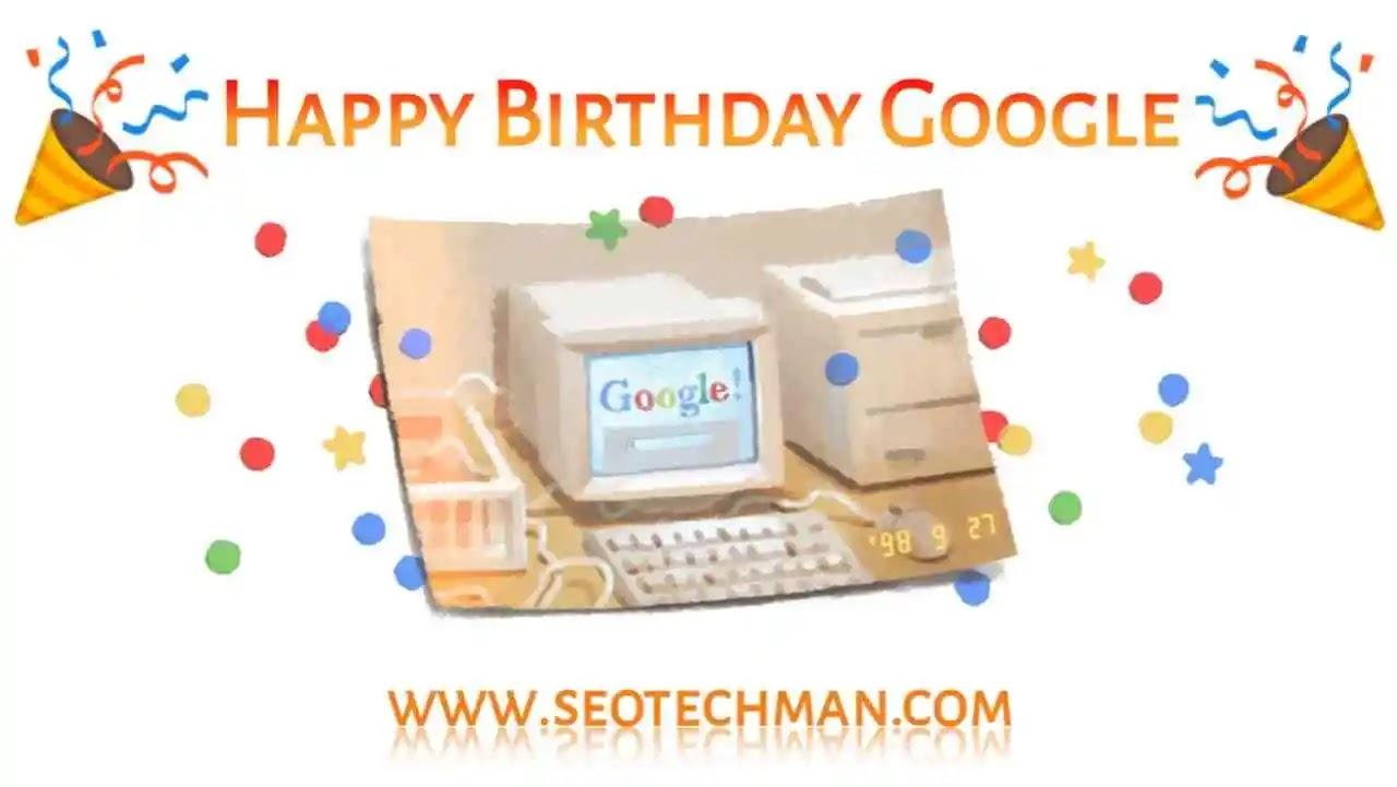 Ulang Tahun Google Ke-21 Penuh warna Dengan Foto Komputer Lawas Di Doodle