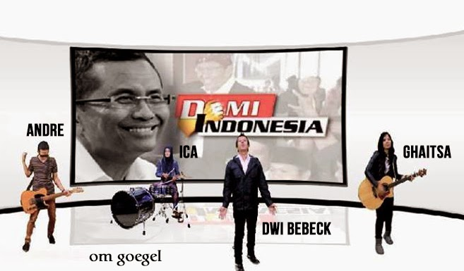 Screenshot: Video Klip Dwi Bebeck & Friends - Demi Indonesia
