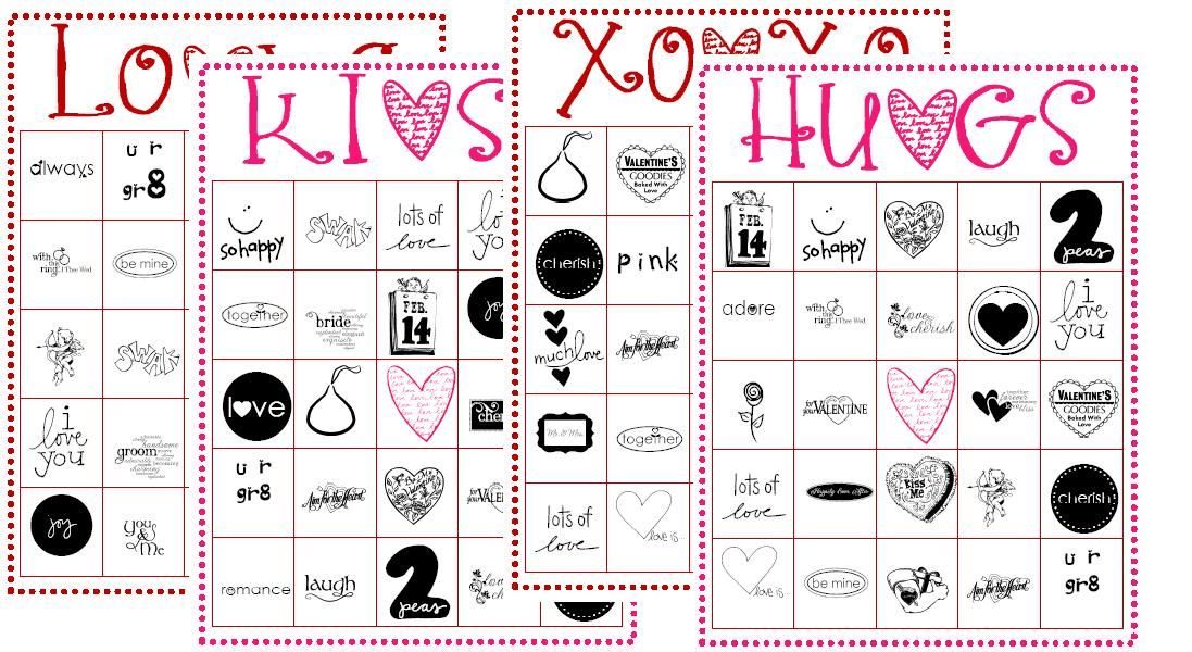 image about Printable Valentine Bingo Card named Lisa Bonita: Valentines BINGO playing cards
