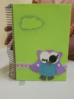 Caderno de coruja em EVA