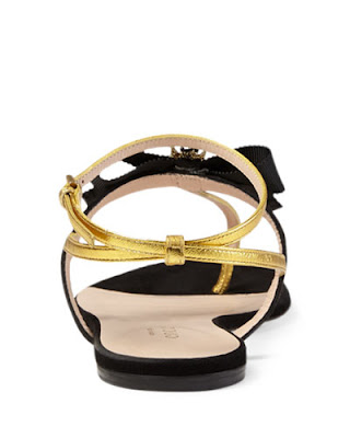 Gucci 'Moody' Bow flat Thong Sandals