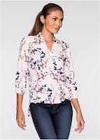 Bluză cu motive florale frumoase (bonprix)