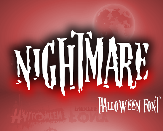 NIGHTMARE Halloween Font - PESADILLA