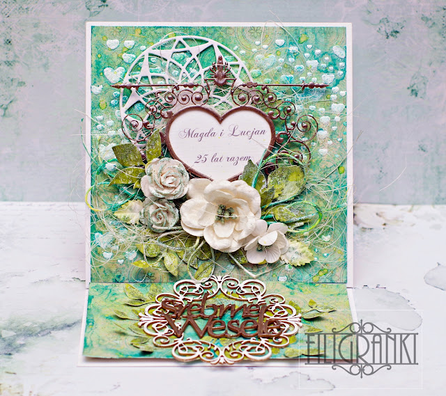 Kartka sztalugowa z okazji 25 Rocznicy Ślubu/ Easel card for the 25th Wedding Anniversary