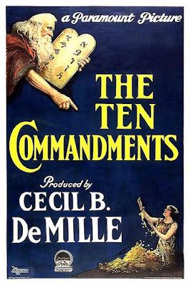 Portada película Los diez mandamientos - 1923