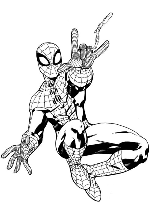 kids coloring pages spiderman | Spiderman Coloring Pages For Kids >> Disney Coloring Pages