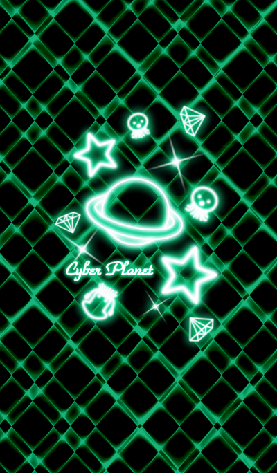 Cyber Planet -Neon green-