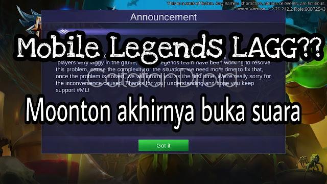kenapa game mobile legends sangat lagg lemot patah-patah