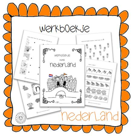 Genoeg Kleuterjuf in een kleuterklas: Werkboekje | Thema NEDERLAND @GX01