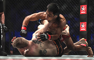 Kevin Belingon pounding opponent