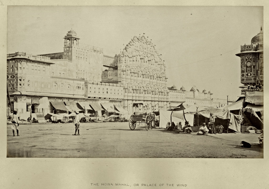 Hawa Mahal or Place of the Wind - Jaipur, Rajasthan 1870's