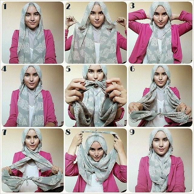 cara memakai jilbab pesta 2