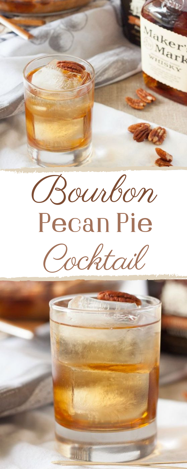 Bourbon Pecan Pie Cocktail #cocktail #drinks