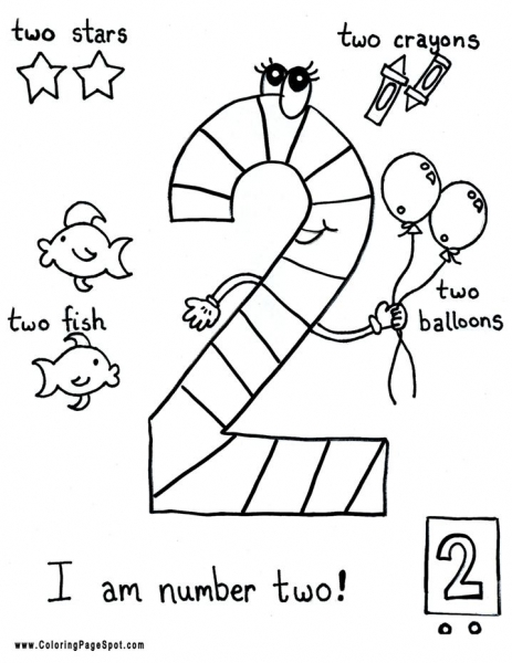 Coloring Pages For Kids Number Two 2 Coloring Pages