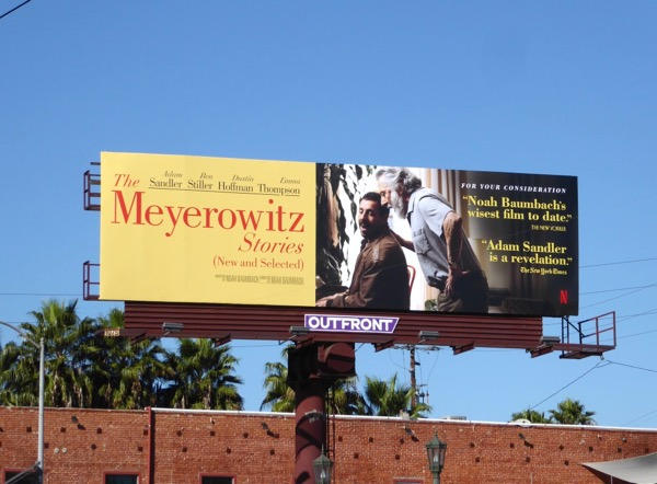 Meyerowitz Stories For your consideration billboard