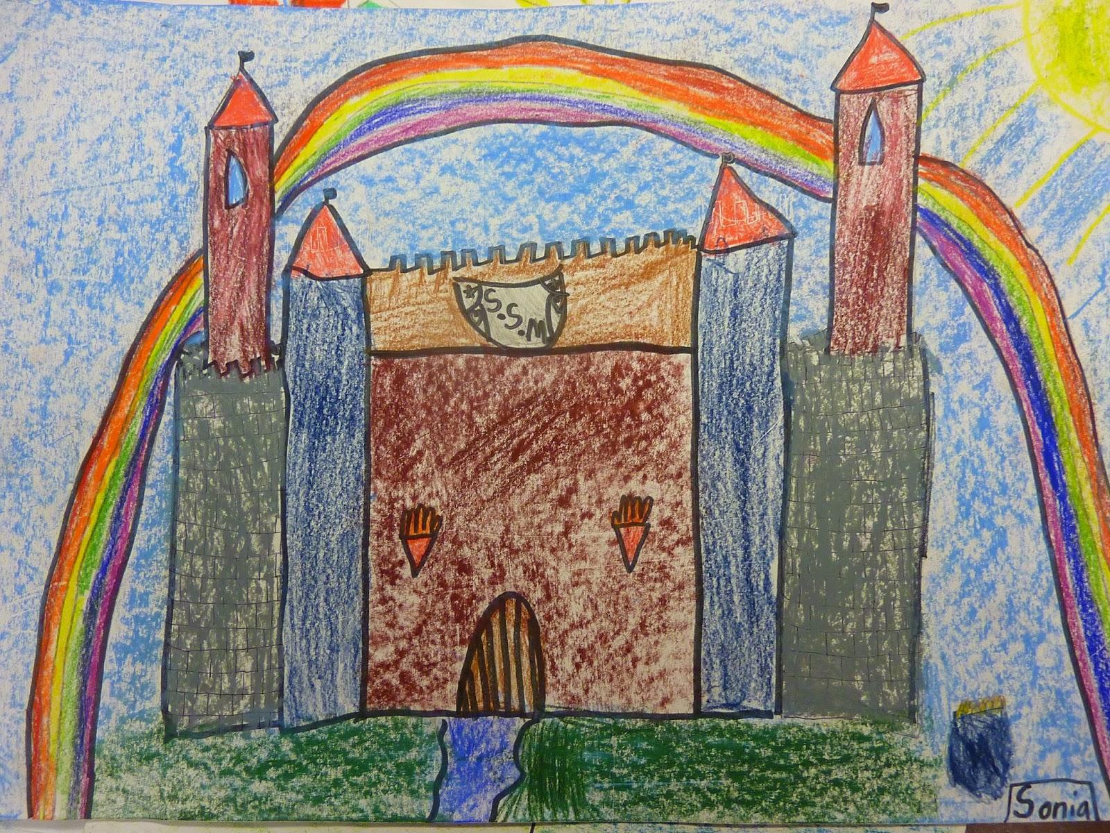 P C K Art Room Middle Ages Castles 4th Grade