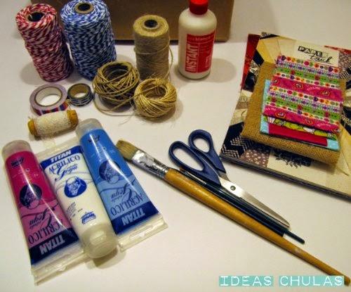 Materiales para decorar botes de cristal y latas