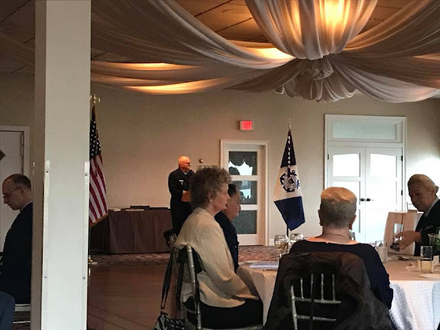 Dennis Georgia is Master of Ceremonies for Division 16 Change of Watch.