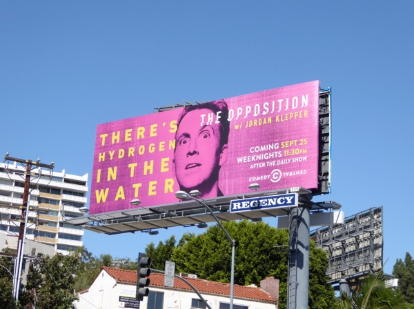 hydrogen in water Opposition billboard