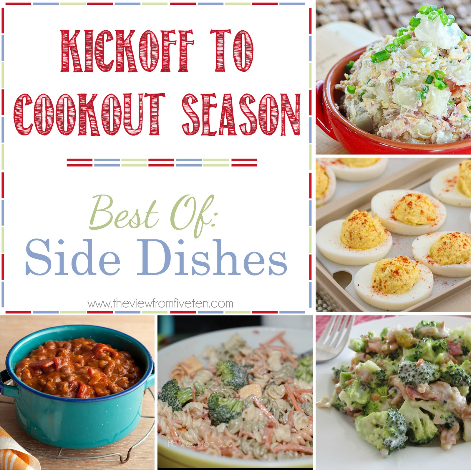 Kickoff To Cookout Season {Side Dishes}
