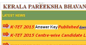gmat-examalerts: Kerala TET Answer Key 2015 | KTET October Exam
