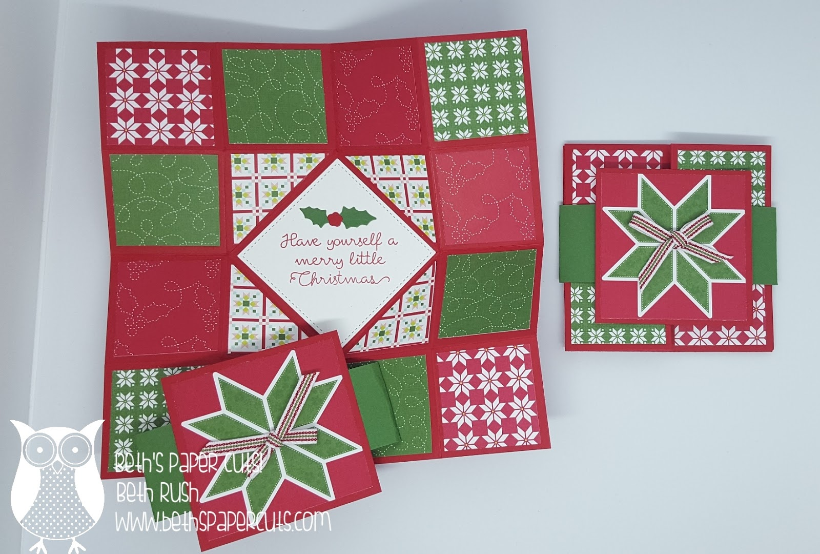 Beths paper cuts christmas quilt origami fun fold christmas quilt origami fun fold jeuxipadfo Image collections