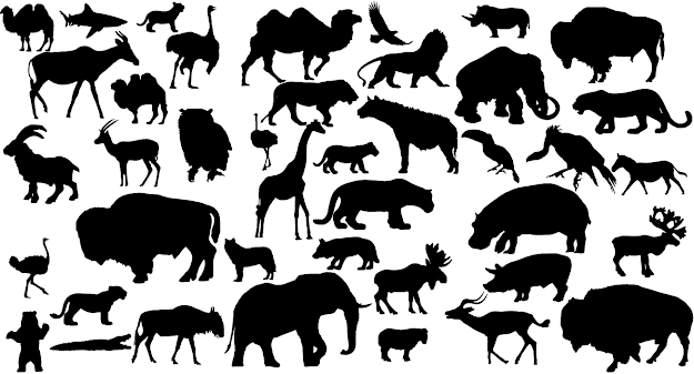 Animal Vector Silhouettes By Lukasiniho  Animal Vector Silhouettes By  Lukasiniho