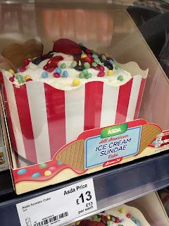 asda ice cream sundae cake