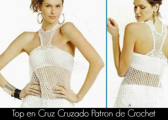 Top Cruz Cruzado Patron Crochet