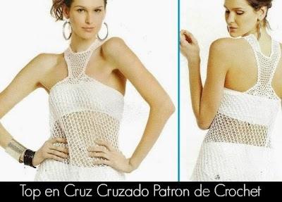 Top Cruz Cruzado Patron Crochet