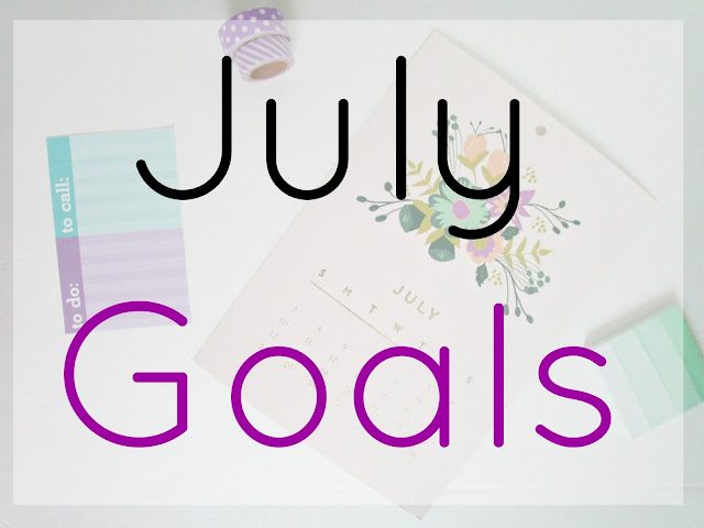 July Goals from Courtney's Little Things