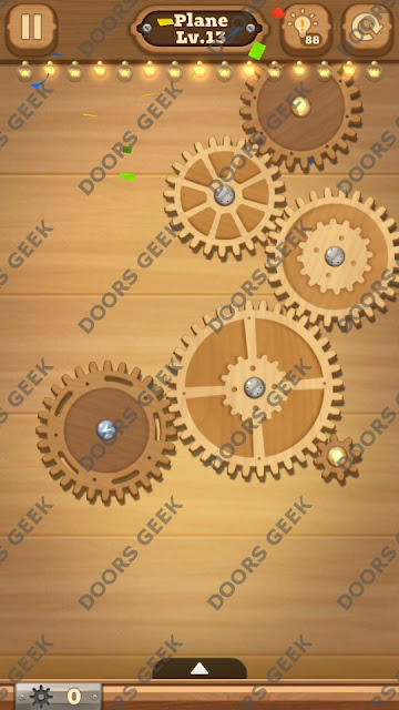 Fix it: Gear Puzzle [Plane] Level 13 Solution, Cheats, Walkthrough for Android, iPhone, iPad and iPod
