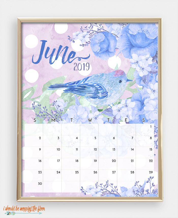 June Bird Calendar