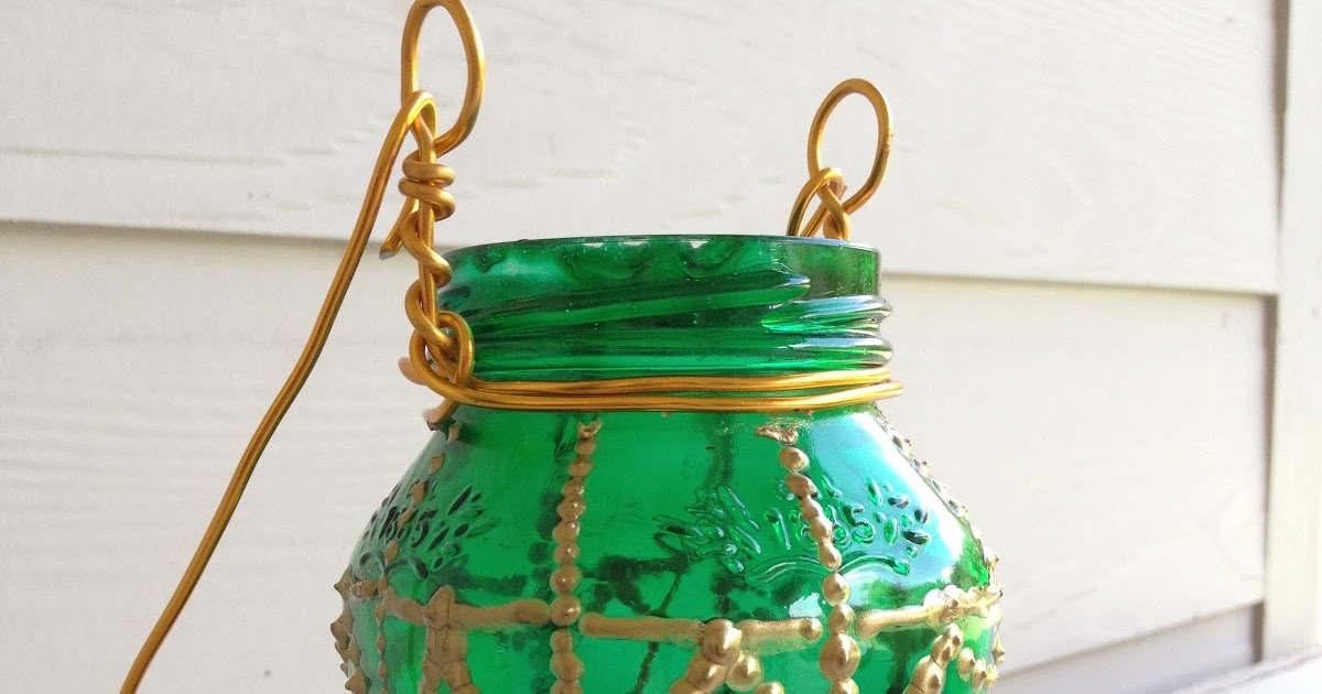 Duzzit: Moroccan-Inspired Painted Jar Lantern DIY