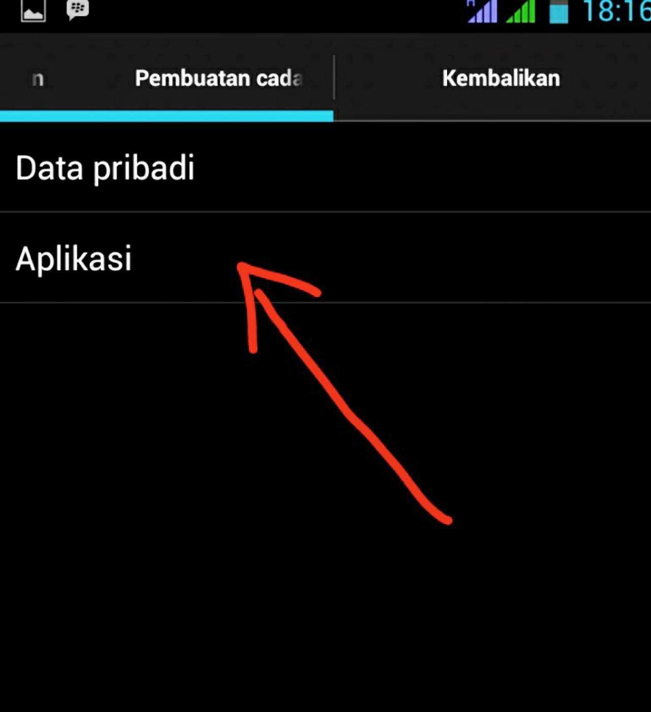 setting backup aplikasi android