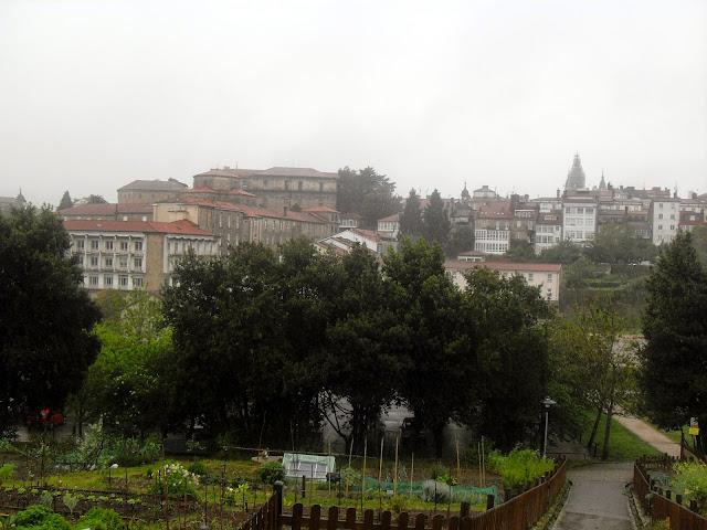 día de lluvia en Santiago de Compostela