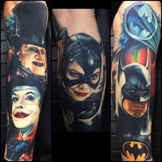 Tatuajes de Batman retro by Nikko Hurtado
