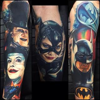 Tatuajes de Batman retro by Nikko Hurtado