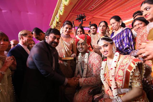 Megastar Chiranjeevi at subbarami reddy grandson wedding