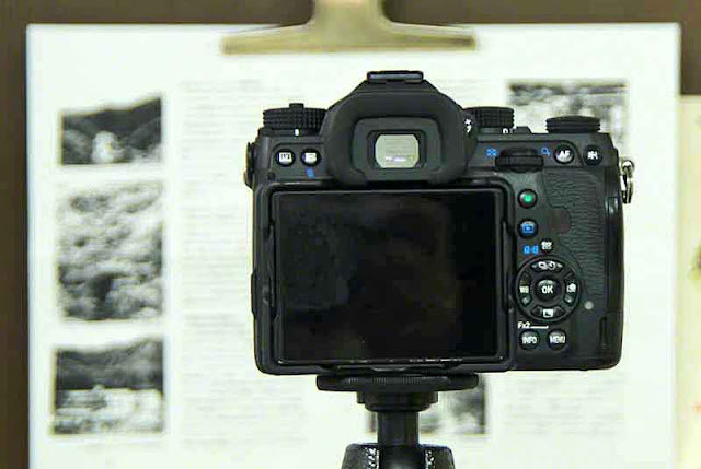 Camera close-up to document