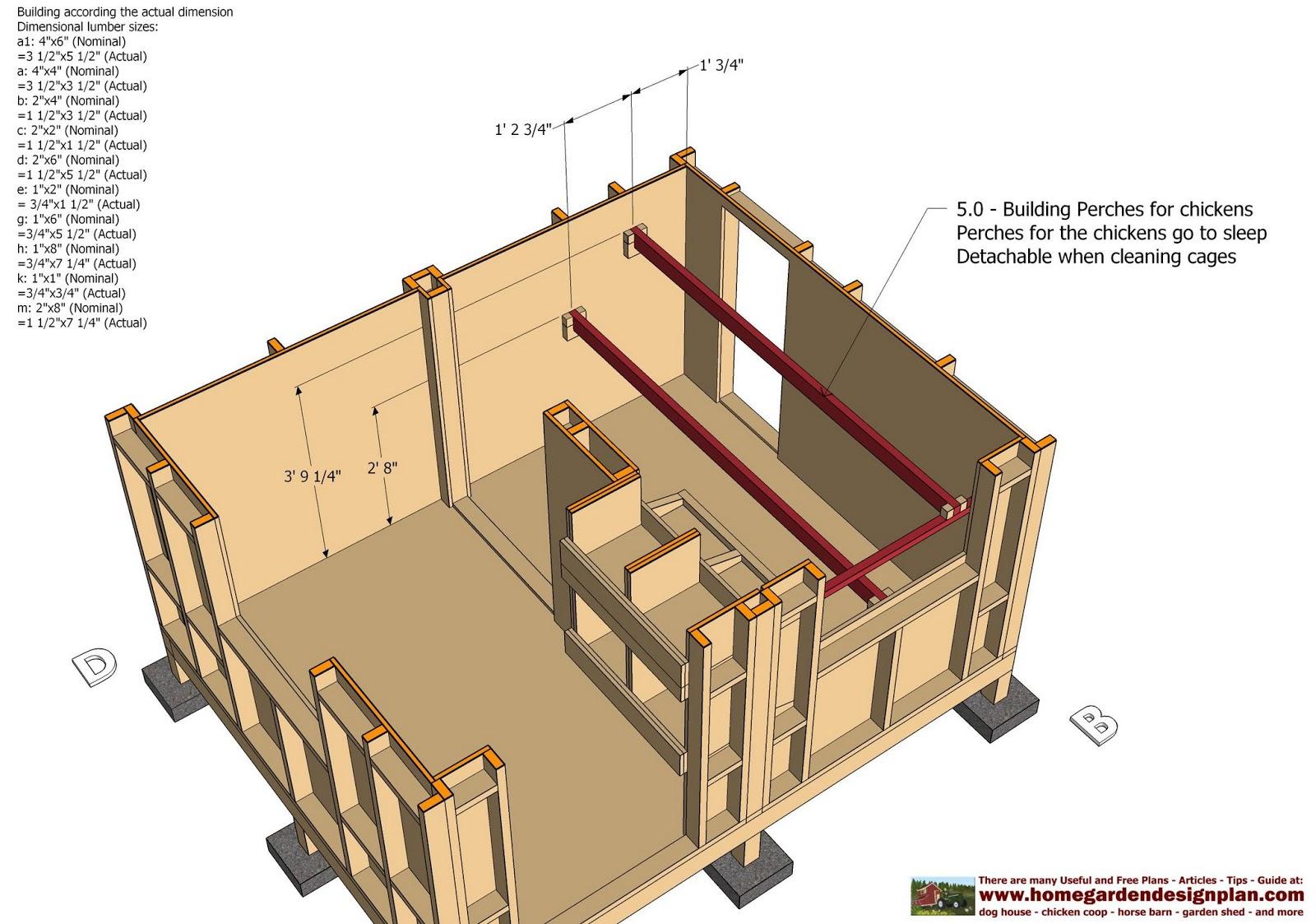home garden plans: CB211 - Combo Chicken Coop Garden Shed ...