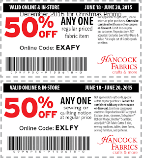 Hancock Fabrics coupons for december 2016