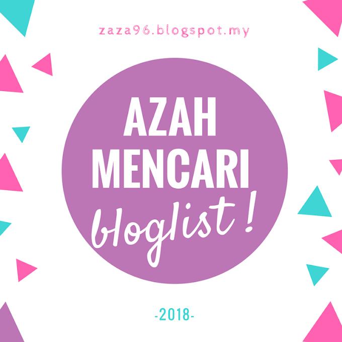 Pencarian Bloglist 2018 by Azah