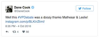 Celebrities React To Vice Presidential Debate