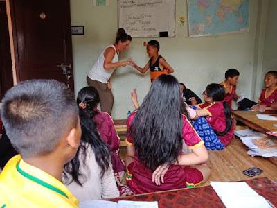 Sonia en la ONG educativa de Katmandú, Nepal.