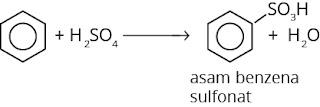 reaksi pembuatan asam benzena sulfonat