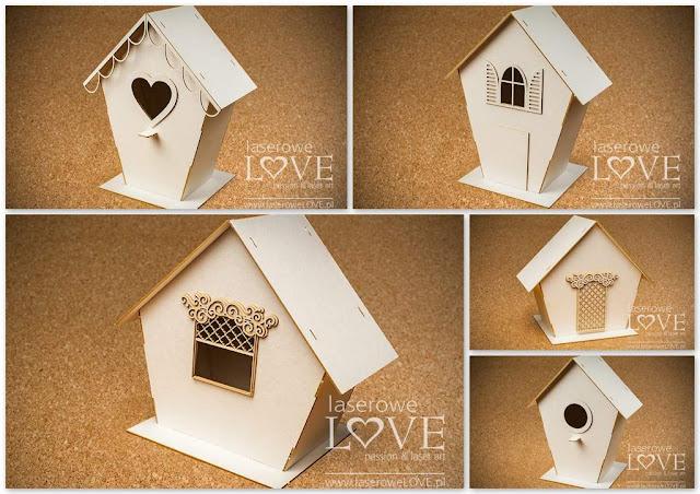 tekturowe domki - nowość w Laserowe LOVE