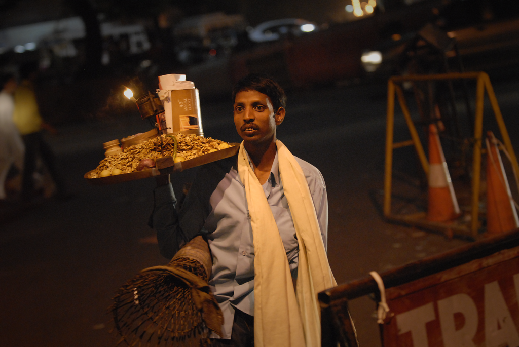 Photo of a nutseller in Jaipur, India.