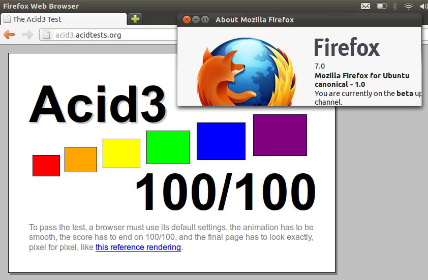 Firefox 7 Beta Arrives in Ubuntu 11 10, Scores a Perfect 100 in
